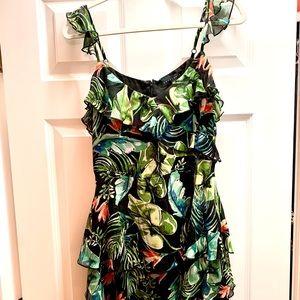 Sanctuary silk tropical floral dress